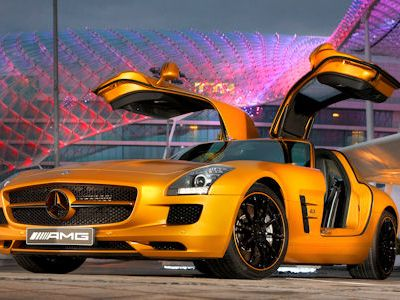 mercedes sls amg desert gold in der w ste von gold. Black Bedroom Furniture Sets. Home Design Ideas