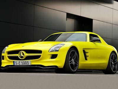 Mercedes Benz SLS AMG E-Cell Supersportwagen Elektroauto Lithium Ionen Hochvoltbatterie Flügeltürer Gullwing Doors M159