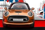 Mini Vision Cooper Organoblech Black Band Disco Floor Glamorous Gold Union Jack Front