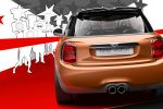 Mini Vision Cooper Organoblech Black Band Disco Floor Glamorous Gold Union Jack Heck