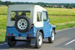 suzuki lj80 eljot test 4x4 allradantrieb geländewagen offroader suv fun car vierzylinder benziner light jeep differentialsperre hinterachssperre probefahrt fahrbericht review heck