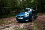 VW Polo BlueMotion GT Test - Front Ansicht vorne Seite seitlich blau Felgen Scheinwerfer