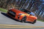 Nissan GT-R 2017 Facelift Modellpflege 3.8 V6 Twin Turbo Biturbo Allrad Aerodynamik Fahrwerk Handling Active Sound Enhancement ASE Infotainment Katsura Orange Front Seite