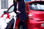 Nissan Micra Elle Fashion Frau Dame Lady Acenta 1.2 Dreizylinder Heck Seite Ansicht Model