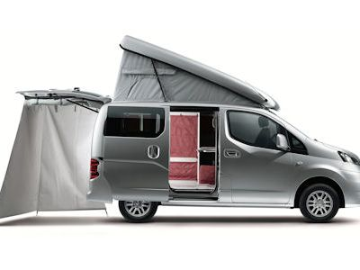 nissan nv200 evalia stadtindianer reisemobil im. Black Bedroom Furniture Sets. Home Design Ideas