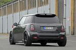 OK-Chiptuning Mini John Cooper Works JCW R56 1.6 Turbo Tuning Leistungssteigerung ATS DTC Superlight Black Edition Rad Felge Akrapovic Evoltion Abgasanlage Wagner Competition Ladeluftkühler Bilstein B14 Heck
