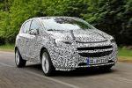 Opel Corsa E 2014 Erlkönig 1.0 Ecotec Dreizylinder Turbo Benziner Kleinwagen IntelliLink Smartphone Front