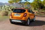 Opel Mokka X Facelift 2016 Kompakt-SUV 1.4 Turbo Benziner 1.6 CDTI Flüsterdiesel AWD Alrad 4x4 Voll-LED-Scheinwerfer AFL Adaptive Forward Lighting Infotainment OnStar Konnektivität Smartphone App Android Auto Apple CarPlay Keyless Open Ergonomie Sitze Heck