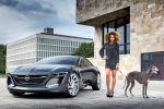 Opel Monza Concept 2013 Sportcoupe Infotainment Konnektivität Effizienz Zukunft Smartphone Internet Vernetzung Display LED Projektor Range Extender 1.0 SIDI Turbo Dreizylinder Elektromotor Front