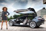 Opel Monza Concept 2013 Sportcoupe Infotainment Konnektivität Effizienz Zukunft Smartphone Internet Vernetzung Display LED Projektor Range Extender 1.0 SIDI Turbo Dreizylinder Elektromotor Heck Seite