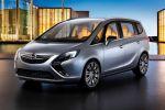 Opel Zafira Tourer Concept Monocab Lounge FlexRide 1.4 Turbo Flex7 Front Seite Ansicht