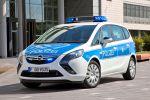 Opel Zafira Tourer Polizeiauto PC UMTS LTE Verbindung Leitstelle Fahrzeugortung Video Funkstreifenwagen 1.6 SIDI Turbo Benziner BiTurbo 2.0 CDTI Diesel Kompakt Van Minivan Front Seite