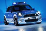 AC Schnitzer Mini E Polizei Front Ansicht MI 2 Tune It Safe VDAT Elektromotor Zero Emission Lithium Ionen Akku Batterie
