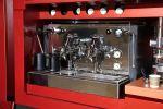 Peugeot Foodtruck Van Expert Le Bistro du Lion Imbiss Restaurant Küche Lounge Soundsystem DJ Espressomaschine