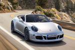 Porsche 911 991 Carrera 4 GTS Cabrio 2015 4S Allrad 3.8 PDK Sport Chrono Paket Sport Plus PDCC PASM Sportwagen Front Seite
