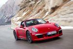Porsche 911 Targa 4 GTS 2015 991 Allrad Offenfahren Überrollbügel 3.8 Boxermotor PDK Sport Chrono Paket Sport Plus PDCC PASM PDLS PTV Torque Vectoring Front Seite
