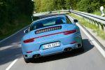 Porsche 911 Targa 4S Exclusive Design Edition Aetnablau 991 2016 Allrad Offenfahren Überrollbügel Sechszylinder Biturbo Boxermotor PDK Sport Chrono Paket Sondermodell Sonderedition Fotobuch Indoor Car Cover Heck