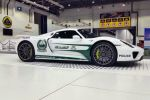 Porsche 918 Spyder Spider Polizeiauto Dubai Police Supersportwagen Plug-in-Hybrid Elektromotor V8 Front Seite