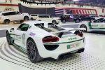 Porsche 918 Spyder Spider Polizeiauto Dubai Police Supersportwagen Plug-in-Hybrid Elektromotor V8 Heck Seite