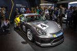 Porsche Cayman GT4 Clubsport Rennwagen Motorsport Sechszylinder Boxermotor Mittelmotor Front Seite
