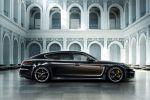 Porsche Panamera Exclusive Series Turbo Executive Langversion Gran Turismo Limousine 4.8 V8 Luxus Poltrona Frau Bicolor Zweifarblackierung Verlaufslackierung Braun Sport Classic Overboost Seite