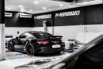 PP-Performance PP-911 Porsche 911 Turbo 991 3.8 Sechszylinder Biturbo Leistungssteigerung Tuning Digital Racing Box IPD Intake Plenum 3-to-1 Headers Downpipe X-Pipe Luftfilter BMC Heck Seite