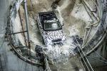 Land Rover Range Rover Evoque Cabrio Kompakt SUV Testfahrten Crossrail Tunnel London Stoffverdeck Front