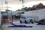 Land Rover Range Rover Evoque Cabrio Kompakt SUV Testfahrten Crossrail Tunnel London Stoffverdeck Front Seite