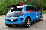 Renault Twin Run Concept 3.5 V6 Kleinwagen Sportwagen Performance Twingo Heck Seite
