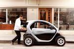 Renault Twizy Cargo Microtransporter Elektroauto City Stadt Kurier Lieferwagen Kofferraum Seite