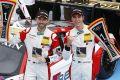 Rene Rast (li.) und Kelvin van der Linde sind die GT-Masters Champions 2014