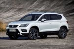 Seat Ateca Kompakt SUV 4Drive Allradantrieb DSG Excellence Style Reference TSI Benziner TDI Diesel Dreizylinder Vierzylinder Turbo Drive Profile Fahrmodi Normal Sport Eco Individual Schnee Offroad Haldex-Kupplung Easy Connect Konnektivität Smartphone Internet Connectivity Box ConnectApp Full Link MirrorLink Apple CarPlay Android Auto Voice Replay Sicherheit Fahrerassistenzsysteme Front Seite