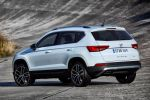 Seat Ateca Kompakt SUV 4Drive Allradantrieb DSG Excellence Style Reference TSI Benziner TDI Diesel Dreizylinder Vierzylinder Turbo Drive Profile Fahrmodi Normal Sport Eco Individual Schnee Offroad Haldex-Kupplung Easy Connect Konnektivität Smartphone Internet Connectivity Box ConnectApp Full Link MirrorLink Apple CarPlay Android Auto Voice Replay Sicherheit Fahrerassistenzsysteme Heck Seite