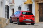 seat leon fr 2.0 tdi 5f test - turbo diesel drive profile sport comfort eco effizienz touchscreen touch colour plus easy conncet media kompaktklasse heck seite