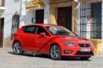 seat leon fr 2.0 tdi 5f test - turbo diesel drive profile sport comfort eco effizienz touchscreen touch colour plus easy conncet media kompaktklasse front seite