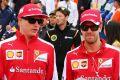Sebastian Vettel ist froh, dass Kimi Räikkönen 2016 bei Ferrari bleibt