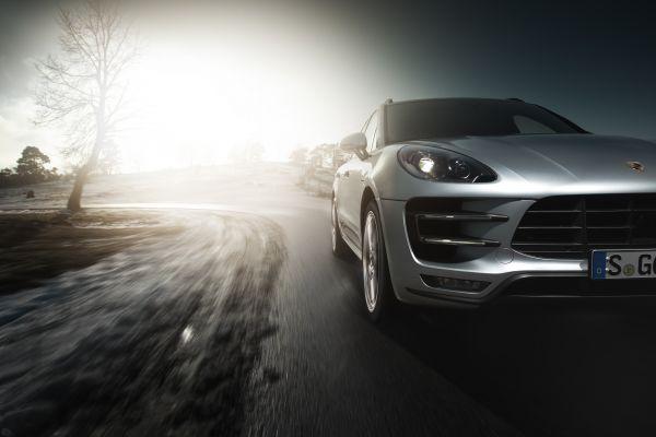 Porsche Macan Turbo Test - Stoßstange vorne Kühlergrill