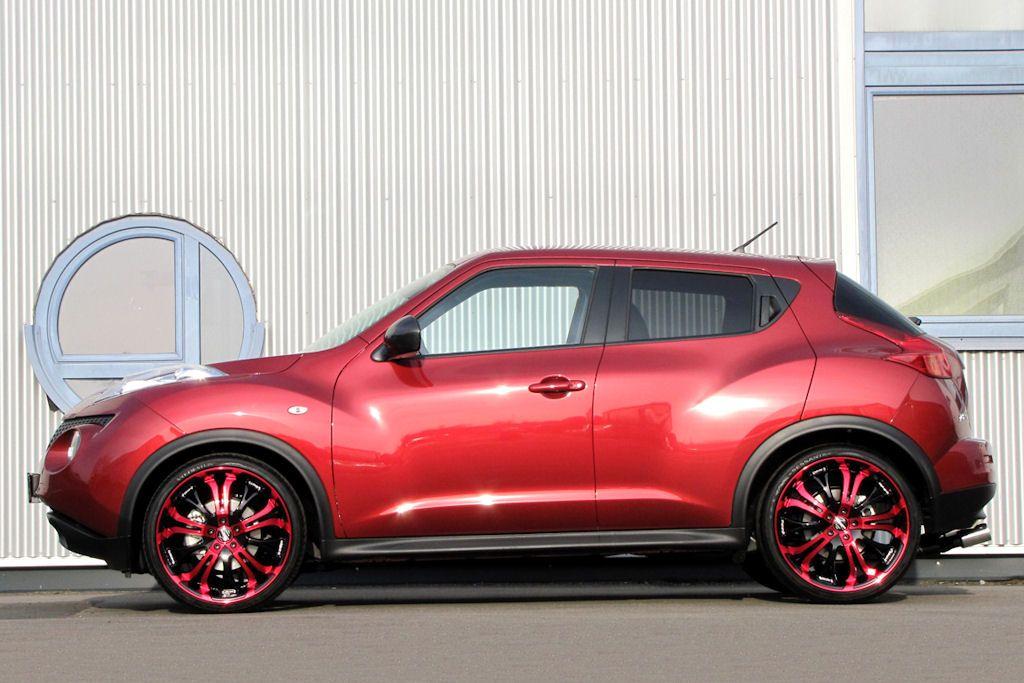 Senner nissan juke neue st rke in scharfem bonbon rot for Nissan juke schwarz rot