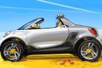 Smart For-Us Pickup Electric Drive EV Vehicle Elektroauto Sketch Seite Ansicht