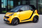 Smart Fortwo Edition Cityflame Gelb Schwarz Flame Yellow Dreizylinder Turbo MHD Micro Hybrid Drive Passion Softouch Front Seite Ansicht