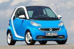 Smart Fortwo Iceshine Weiß Azurblau Dreizylinder Turbo MHD Micro Hybrid Drive Passion Softouch Front Seite Ansicht