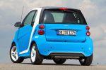 Smart Fortwo Iceshine Weiß Azurblau Dreizylinder Turbo MHD Micro Hybrid Drive Passion Softouch Heck Ansicht