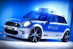 AC Schnitzer Mini E Polizei Front Seite Ansicht MI 2 Tune It Safe VDAT Elektromotor Zero Emission Lithium Ionen Akku Batterie