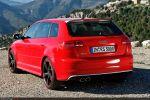 Audi RS3 Sportback Test - Heck Ansicht hinten seitlich Seite