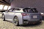 Subaru Advanced Tourer Concept Kombi Lineartronic CVT 1.6 Turbo Boxermotor Allrad Hybrid Elektromotor Confidence in Motion Heck Ansicht