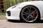 techart porsche cayman s 981 test - fahrbericht 3.4 boxermotor aerodynamik bodykit sportfahrwerk sportabgasanlage sound innenraum multifunktionslenkrad sportwagen probefahrt kurvenjäger kurvenräuber fahrmaschine rad felge