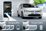 VW Volkswagen Charge Check e-Golf Elektroauto Plug-in-Hybrid induktives Laden Ladeplatte Induktion Power-Lift Batterie Ladekabel