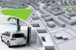 VW Volkswagen e-Station Guide e-Golf Elektroauto Plug-in-Hybrid Ladesäule POI induktives Laden Ladeplatte Induktion Power-Lift Batterie