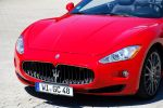 Maserati GranCabrio Test - Front Ansicht vorne Frontscheinwerfer Kühlergrill Stoßstange