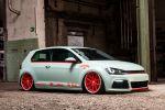 Low-Car-Scene BlackBox VW Volkswagen Golf Light Tron Rotiform SNA Airride Phospor Folie Front Seite